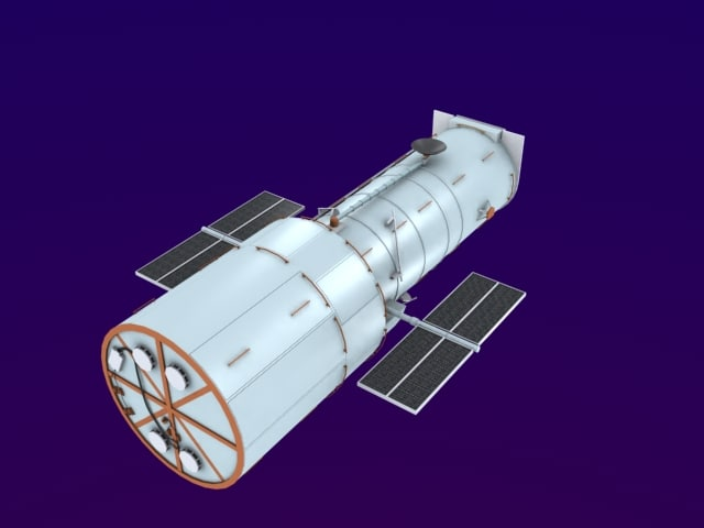 space telescope 3D model