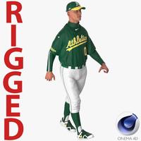 baseball player athletics 2 3D model