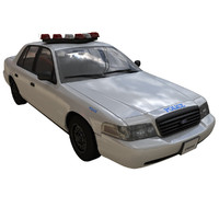 crown victoria police car 3D