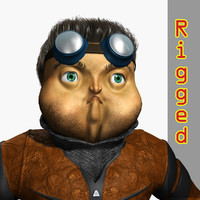 man owl 3D model