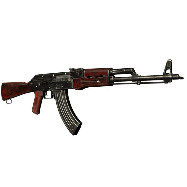 3D akm automatic rifle