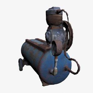 old air compressor 3D model