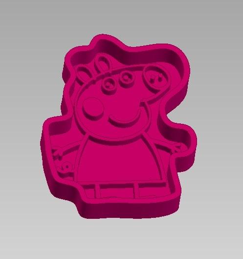 biscuits kids peppa pig model