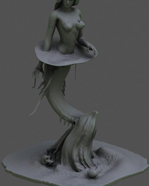 3D model female girl woman