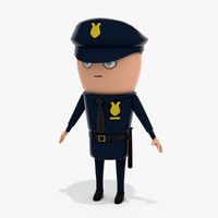 3D cartoon policeman