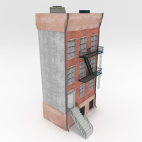 city apartment building 3D model