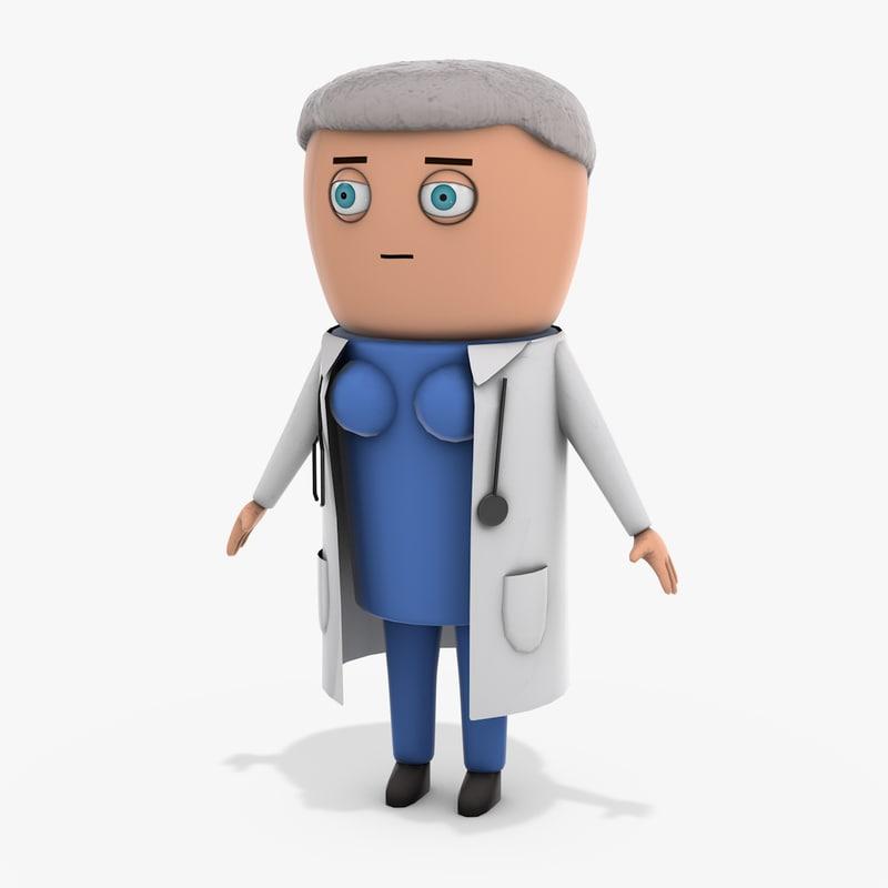 cartoon doctor model
