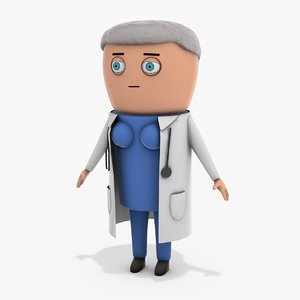 cartoon doctor model