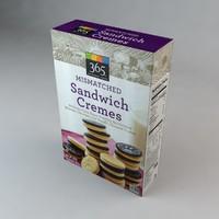 3D box mismatched sandwich cremes