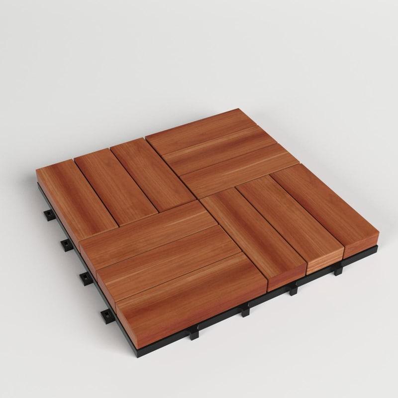 floor decking tiles set 3D