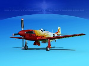 3D mustang cockpit model