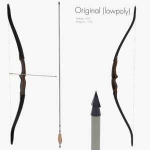 recurve bow 3D model