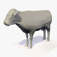 3D base mesh cow rigged