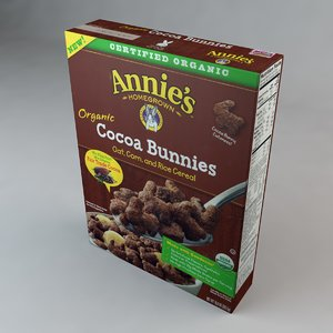 3D model box annies cocoa bunnies