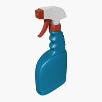 3D plastic spray bottle 2 model