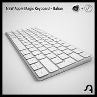 new apple keyboard - 3D