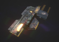 3D scifi spaceship