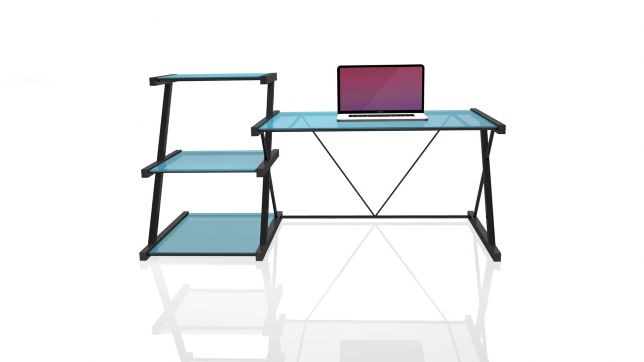 3D macbook pro office desk