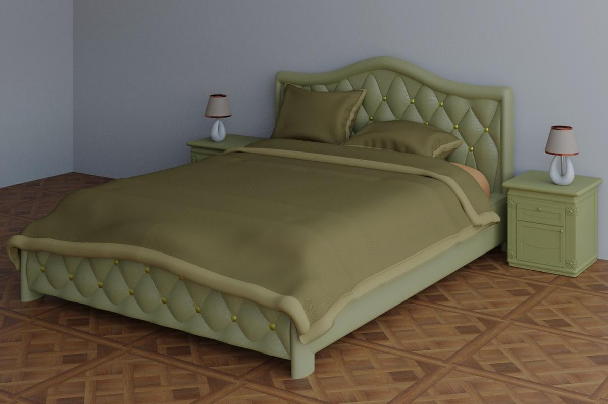 bed blender 3D model