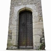3D wooden exterior door