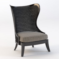 levine wing chair 3D model
