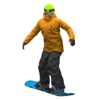 snowboarder snow board 3D model