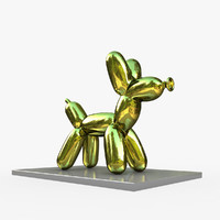 jeff koons balloon dog 3D