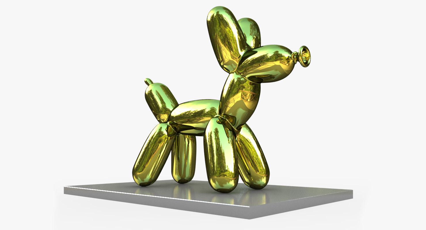 jeff koons balloon dog 3D