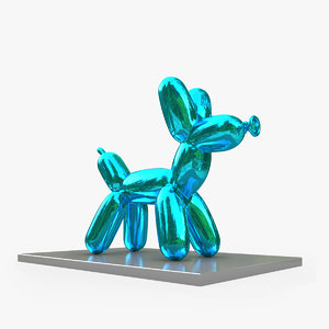 3D jeff koons balloon dog model