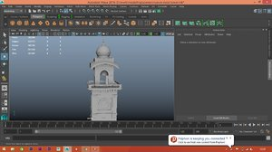 reference clock tower 3D model