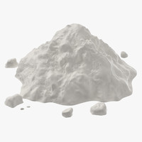 loose pile cocaine 3D model