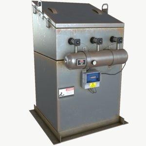 3D model venting filter
