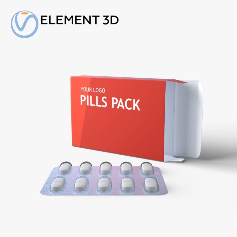 3D medication pills package