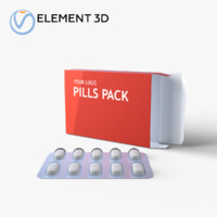 3D medication pills package