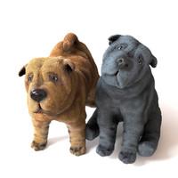 pup puppy 3D model