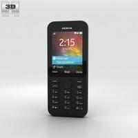 3D nokia 215 black model