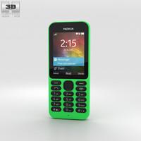 3D nokia 215 green