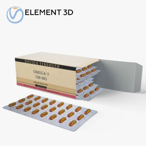 medication pills package 3D model