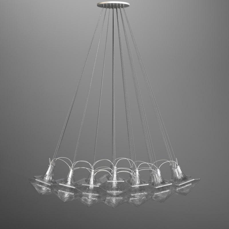 lasvit facet blown glass 3D model