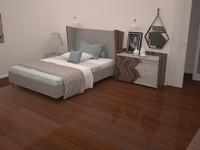 bedroom in minimalist style