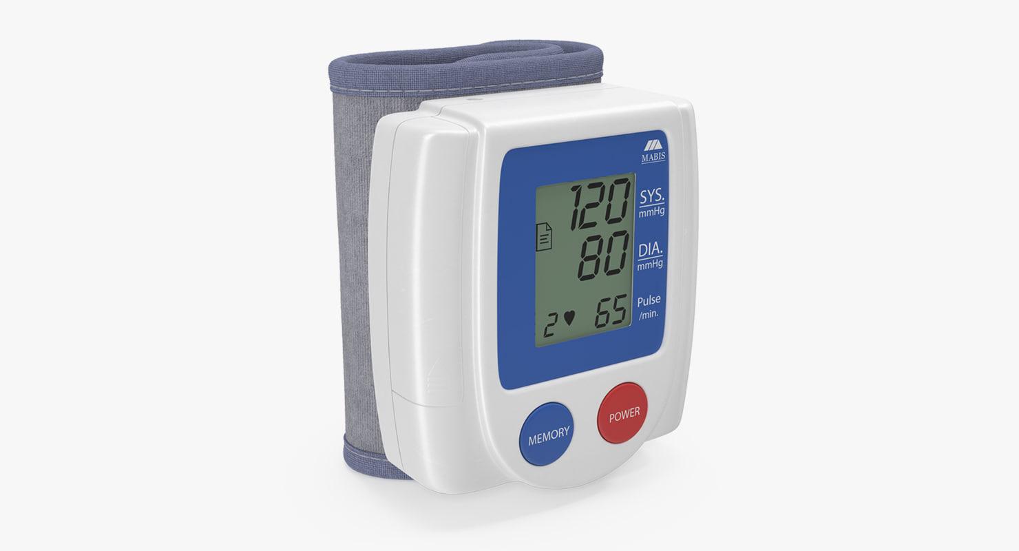 wrist blood pressure monitor 3D model