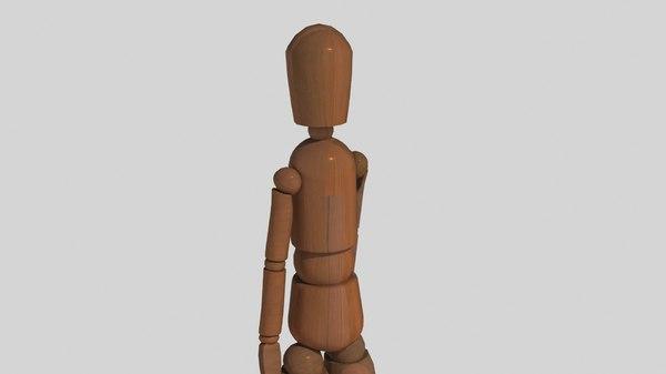 man mannequin artists 3D model