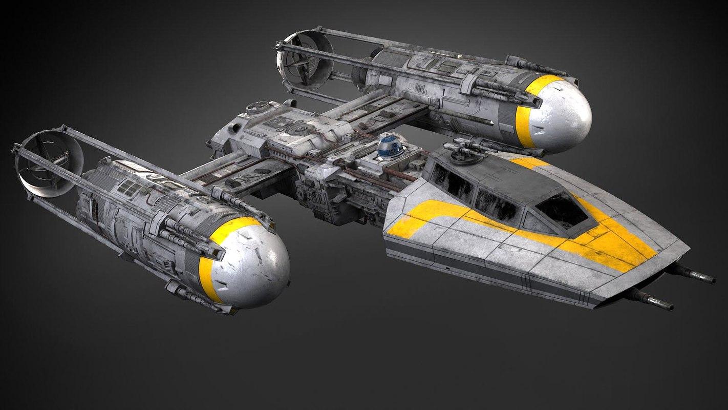 3D star wars y-wing