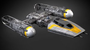 3D star wars y-wing