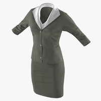 3D women skirt suit model