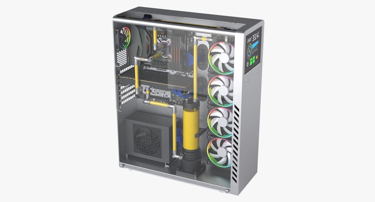 3D photoreal desktop pc
