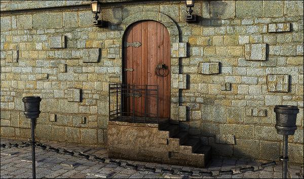 3D door medieval