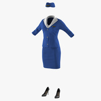 stewardess uniform model