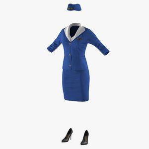 stewardess uniform model
