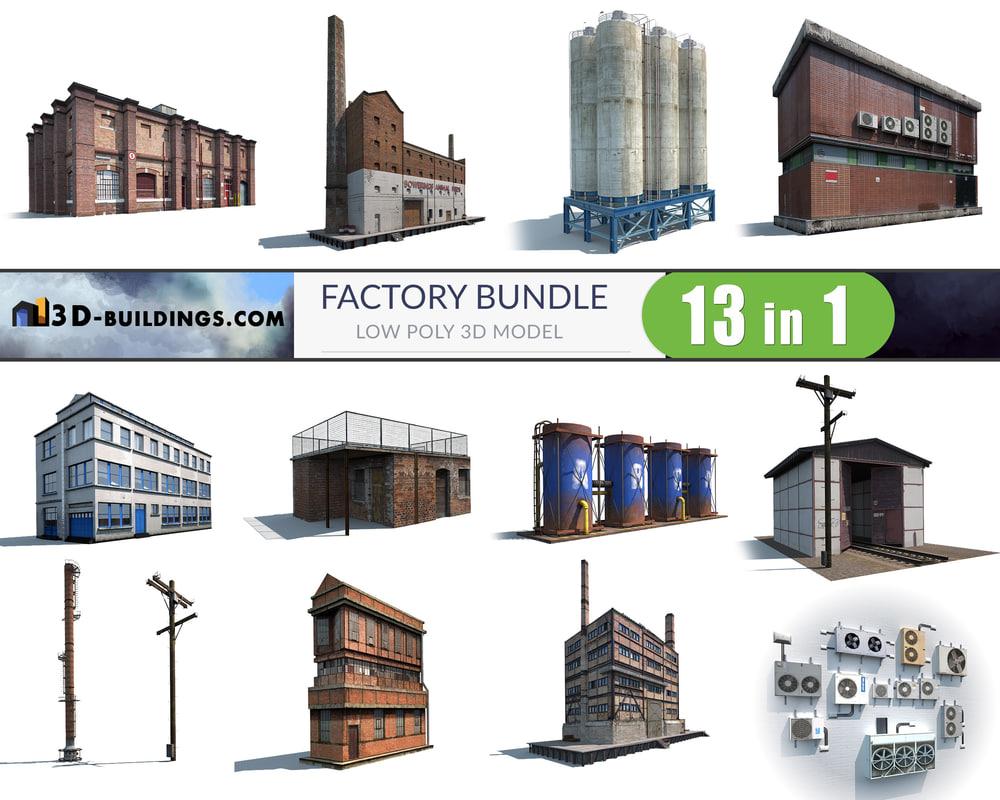 3D model building factory